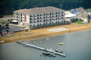 Aerial view of ParkShore Resort.