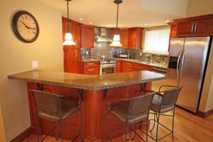 Rental kitchen at Acer Vacation Rentals Ltd.