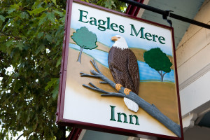 Eagles Mere Inn sign.
