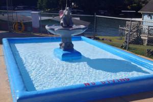 Kiddie pool at Bass Point Resort.