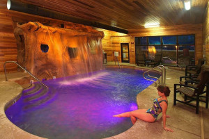 Indoor pool at Grand Lodge at Brian Head.