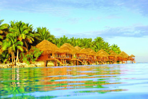 Exterior view of The Aitutaki Lagoon Resort & Spa.