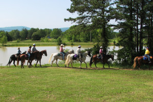 Horseback riding at Mulberry Mountain Lodging & Events.