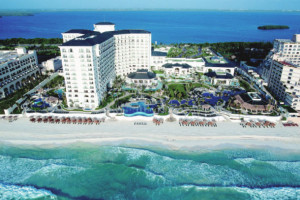 Aerial view of JW Marriott Cancun.