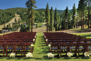Outdoor wedding at Ritz-Carlton Lake Tahoe.