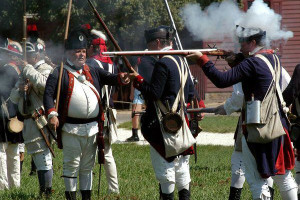 Historic reenactment near King's Creek Plantation.