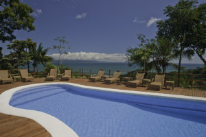 Outdoor pool at Lapa Rios.