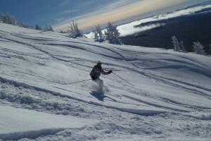 Skiing near Pronghorn Resort.