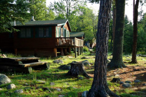 Cabin exterior at Big Lake Wilderness Lodge.