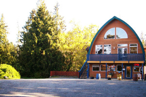 Exterior view of Salt Spring Spa Resort.
