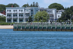 Exterior view of Harborfront Inn at Greenport.