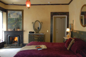 Guest room at Morgan-Samuels Inn.