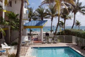 Outdoor pool at Waterfront Inns Beach Resort.