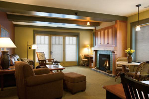 Guest living room at Tamarack Lodge.