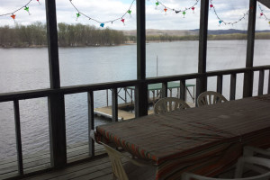 River view at Cedar Valley Lodge.