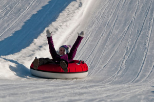 Snow tubing at Crystal Springs Resort.