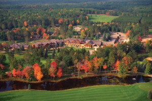 Aerial view of Garland Lodge & Resort.