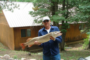 Fishing at Lone Wolf Cabins and Getaway.