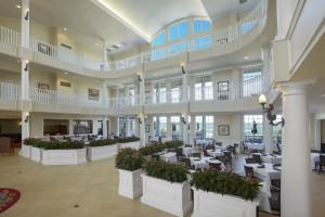 Lobby at Blue Harbor Resort and Spa.