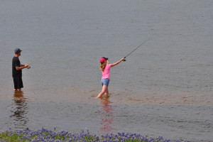 Fishing at Willow Point Resort.