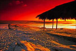 Beach sunset at Seabreeze Vacation Rentals, LLC.