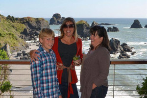 Family at Redwood Coast Vacation Rentals.