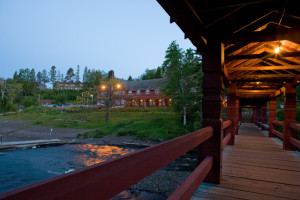 Boardwalk at Lutsen Resort on Lake Superior.