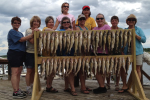 Group fishing at River Bend Resort.