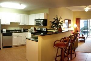 Rental kitchen at Madeira Bay Resort.