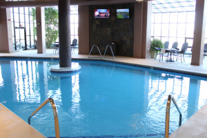 Indoor pool at The Ridge Hotel.