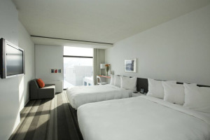 Guest room at Hotel Pur.