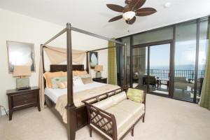 Vacation rental bedroom at Luxury Coastal Vacations.