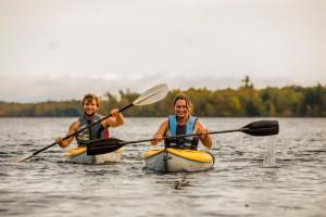 Kayaking at Ruttger's Bay Lake Lodge.