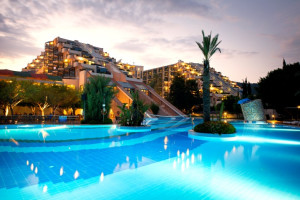 Outdoor pool at Merit Limra Hotel & Resort.