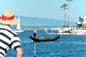 Gondola rides at Loews Coronado Bay Resort.