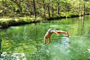 Swimming hole at SkyRun Vacation Rentals - Texas Hill Country.