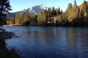 Scenic view near Banff Rocky Mountain Resort.