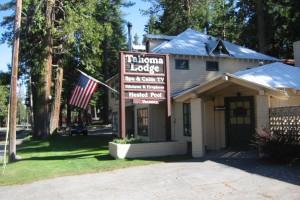 Exterior view at Tahoma Lodge.