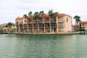 Exterior view of WindWater Hotel & Resort.