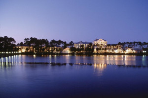 Exterior view of Wyndham Bay Point Resort.