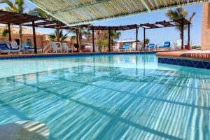 Outdoor pool at Club Hotel Cantamar.