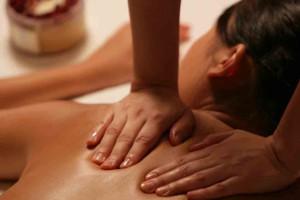 Back massage at Emerson Resort & Spa.