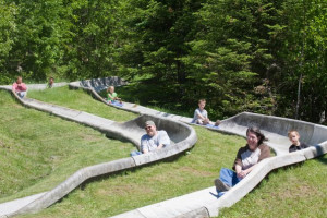 Alpine Slide at Eagle Ridge at Lutsen Mountain.
