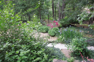 Garden at Azalea Falls Lodge.