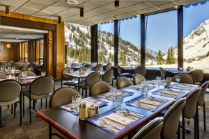 Dining room at Alta Lodge.