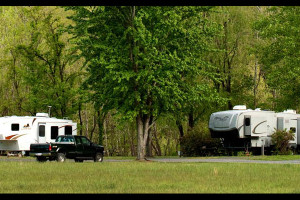 RV camping at Smoke Hole Caverns & Log Cabin Resort.