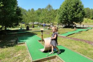 Mini golf at Little Valley Mountain Resort.
