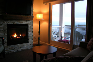 Guest living room at Alouette Beach Resort.