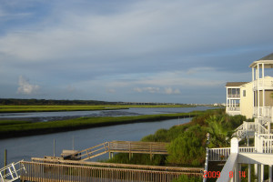 Balcony view at Williamson Realty Vacations.