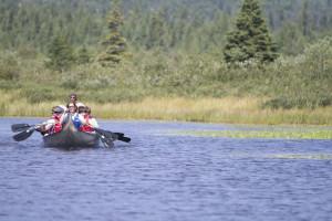 Boating near Eagle Ridge at Lutsen Mountain.